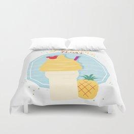 Pineapple Float (Dole Whip) Duvet Cover