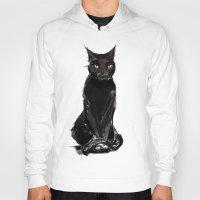 black cat Hoodies featuring Black Cat by Jaleesa McLean