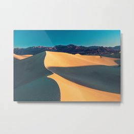 the geometry of death valley light Metal Print