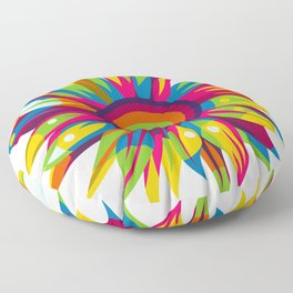 Colorful Sun Flower Floor Pillow