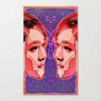 gemini Canvas Prints featuring Gemini by Steve W Schwartz Art
