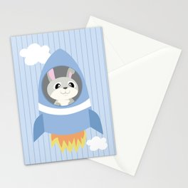 Mobil series rocket bunny Stationery Cards