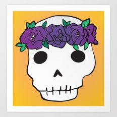 Princess Skull Art Print
