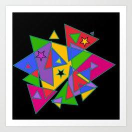 Triangles colourful Art Print