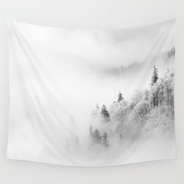 Winter forest landscape Wall Tapestry