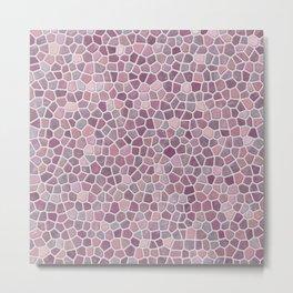 Pink Mosaic Pattern - lighter Metal Print