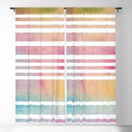 Watercolor Modern Stripes Blackout Curtain