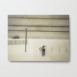 Bicycle Below Metal Print