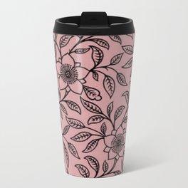 Vintage Lace Floral Bridal Rose Travel Mug