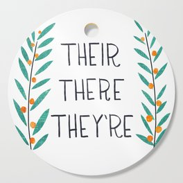 Their There They're - Grammar Lessons Cutting Board