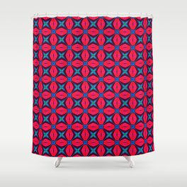 captivating kaleidoscope decorative blue and red Shower Curtain