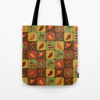 mexican Tote Bags featuring Mexican Squares by Matt Andrews