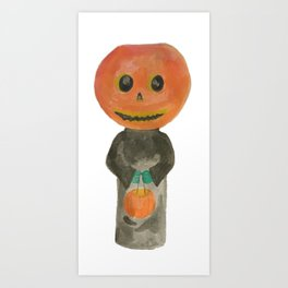 Pumpkin Jack o Lantern Halloween Trick or Treat Kids Costume October 31 Art Print