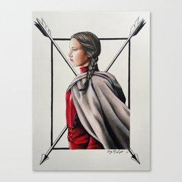 "Katniss Everdeen Mockingjay Part 2 ""Blood Red"" | Drawing Canvas Print"