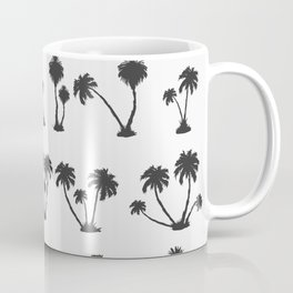 solar palm beach in a dark color Coffee Mug
