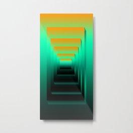 Sunset Towel Metal Print