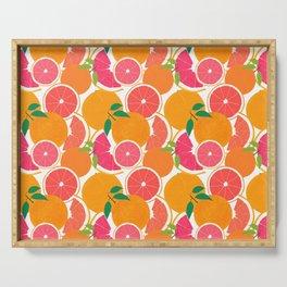 Grapefruit Harvest Serving Tray