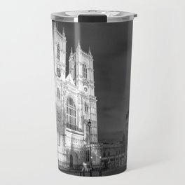 Cathedral by Night - black and white Travel Mug