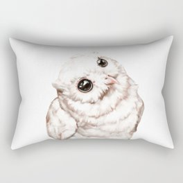 Baby Snowy Owl Rectangular Pillow