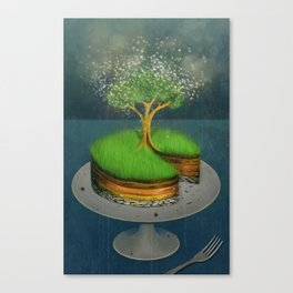 Earth Day Cake Canvas Print