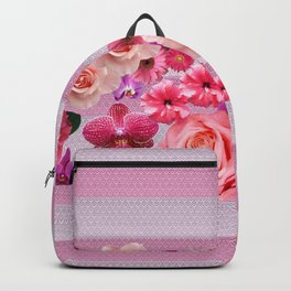 pretty and happy pink flowers Backpack