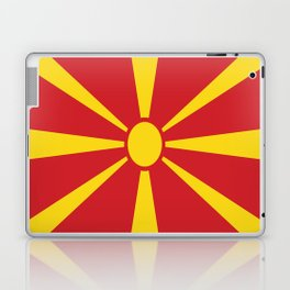 Flag of Macedonia - Macedonian,skopje,Bitola,Kumanovo,Prilep,Balkan,Alexander the great,Karagoz,red Laptop & iPad Skin