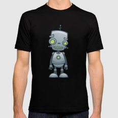 Silly Robot Black Mens Fitted Tee X-LARGE