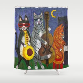 Jazz Cats Shower Curtain