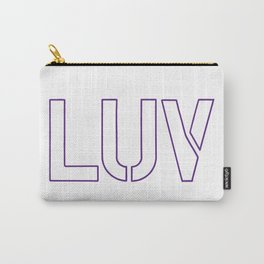 LUV Purple Carry-All Pouch