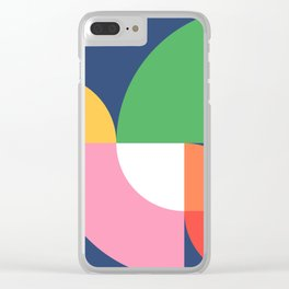 Abstract Geometric 15 Clear iPhone Case