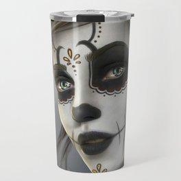 Day of the Dead Sugar Skull Girl Ultra HD Travel Mug