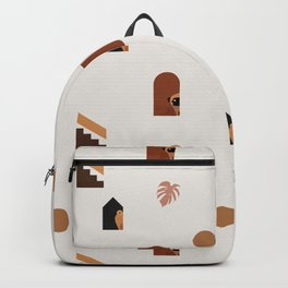 Hide and Seek Pug Abstract Backpack
