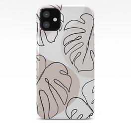 monstera matt iPhone Case