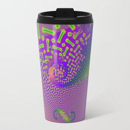 Interconnected Metallic Fractal Travel Mug