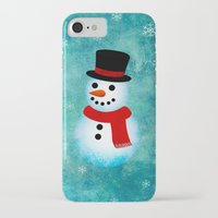 snowman iPhone & iPod Cases featuring snowman by vitamin