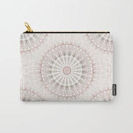 Cream Rose Mandala Carry-All Pouch