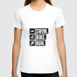 Swim Bike Run Block 2 T-shirt