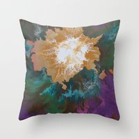 Throw Pillows featuring Elysium by Danielle Harshenin