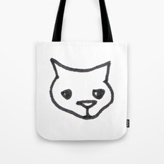 Concerned Cat Tote Bag