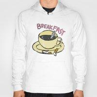 breakfast Hoodies featuring BREAKFAST by Gianluca Floris