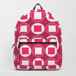 Strawberry Contemporary Bead Pattern Backpack