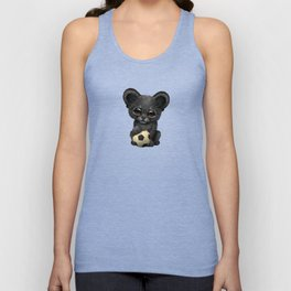 Black Panther Cub With Football Soccer Ball Unisex Tank Top