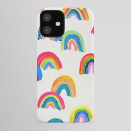 Abstract Rainbow Arcs - White Palette iPhone Case