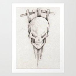 Triple cross Art Print