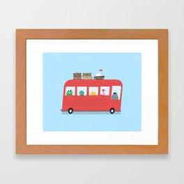 Funny Bus Framed Art Print