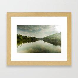 Cloudy River Framed Art Print
