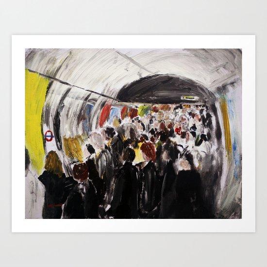 London Underground Subway Going To Work Part 2 Art Print