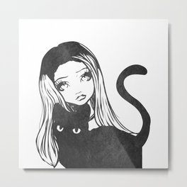 Here Kitty Kitty Metal Print