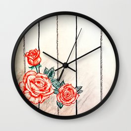 Prohibited roses II Wall Clock
