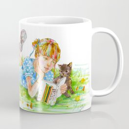 A girl with a kitten vol. 5 Coffee Mug